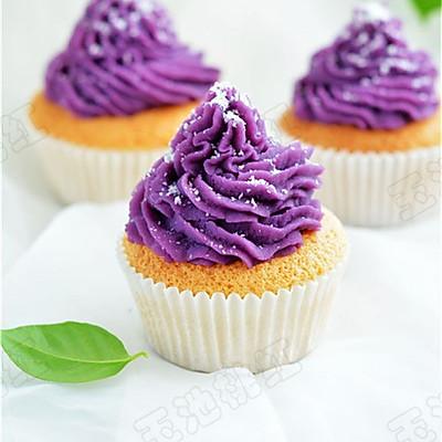 椰香紫薯小蛋糕(长帝烘焙节)