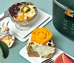 电饭堡的下午茶小甜点 琉璃白雪 蜜豆 麻薯 桃胶 奶冻 蛋糕