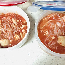 轻断食 200大卡备餐 鸡肉丸番茄浓汤
