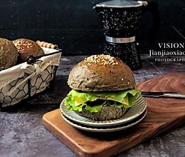 黑芝麻汉堡包的做法