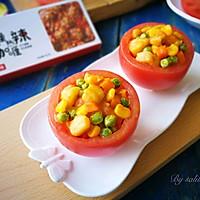 五彩鲈鱼番茄盅#安记咖喱快手菜#