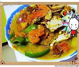 倭瓜炖土豆河蟹的做法