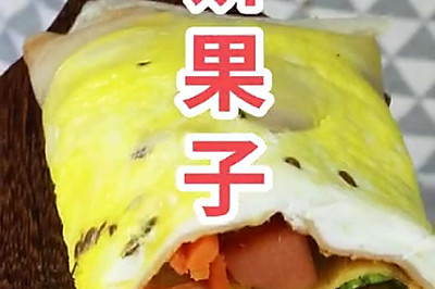 亚麻籽油做的健康煎饼果子