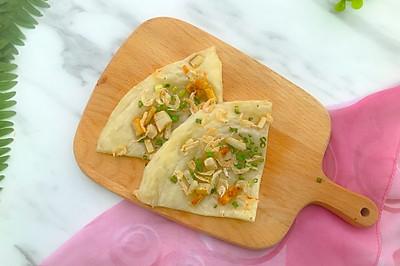 香葱虾米香肠手抓饼