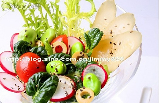 橄榄菊花菜沙拉的做法