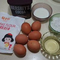 可可奶油果仁蛋糕#美的烤箱菜谱#的做法图解1