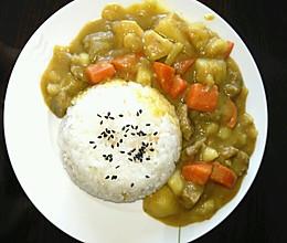 简单咖喱饭的做法