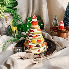 #相聚组个局#抹茶松饼圣诞树蛋糕