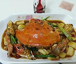 香辣蟹炒年糕的做法