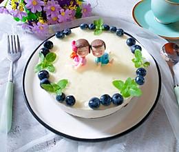 #精品菜谱挑战赛#蓝莓酸奶慕斯蛋糕的做法