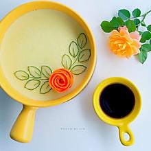 #换着花样吃早餐#营养美味的蔬菜鸡蛋羹(玫瑰花蒸蛋)