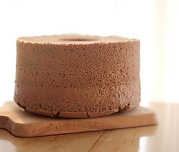 香浓可可中空戚风蛋糕的做法