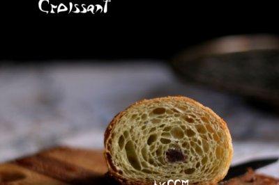 抹茶豆沙牛角包+#一起吃西餐#