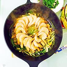 葱烤豉油虾