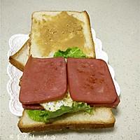 煎蛋火腿三明治的做法图解10