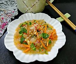 酸辣海蜇丝#做道好菜,自我宠爱!#的做法