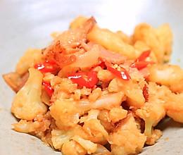 腊肉炒花菜-迷迭香的做法