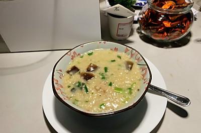 皮蛋瘦肉燕麦粥