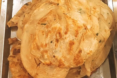 酥脆葱油饼