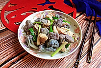 家常小炒  紫花菜炒五花肉的做法
