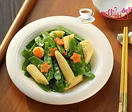 荷兰豆炒玉米笋的做法