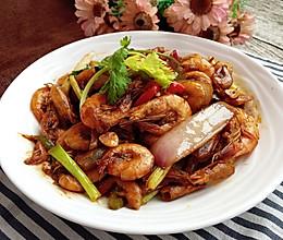 油爆小黄海虾#宴客拿手好#的做法