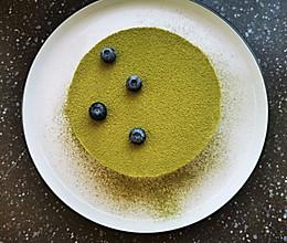 【抹茶芝士慕斯蛋糕】置于冰箱中的小惊喜的做法