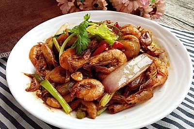 油爆小黄海虾#宴客拿手好#