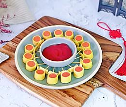 #钟于经典传统味#春节小零食&豆皮香肠卷棒棒糖