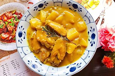 咖喱鸡翅中