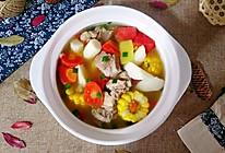山药玉米排骨汤的做法