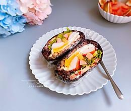 #秋天怎么吃#黑米饭团的做法