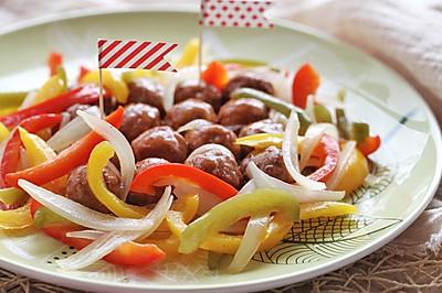 #宜家让家更有味# 酸甜彩椒瑞典肉丸