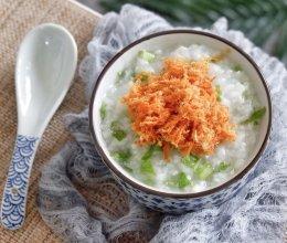 辣松青菜粥的做法