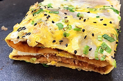 自制煎饼果子(附薄脆炸制方法)