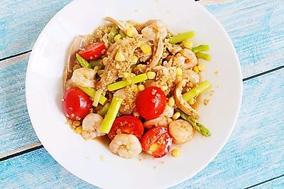 藜麦鲜虾芦笋沙拉