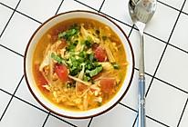 番茄金针菇蛋汤的做法