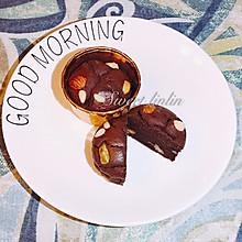 #母亲节,给妈妈做道菜#巧克力坚果麦芬
