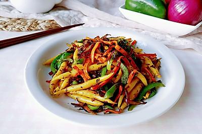 彩菜蒸炒玉米条