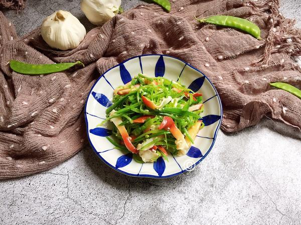 #节后清肠大作战#红绿配 荷兰豆拌北极贝的做法