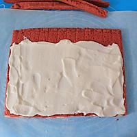 香润丝滑红丝绒波点蛋糕卷#长帝烘焙节#的做法图解17