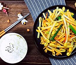 低脂饮食之:花生芽炒鸡胸肉的做法