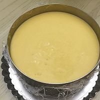 百香果南瓜慕斯生日蛋糕(百香果果冻夹层)的做法图解15