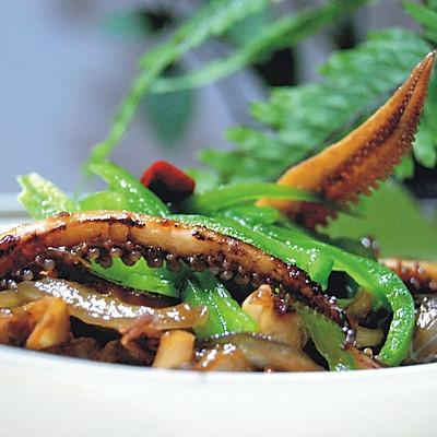 洋葱炒鱿鱼须