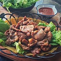 生菜卷香煎梅子肉#丘比沙拉汁#