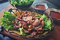 生菜卷香煎梅子肉#丘比沙拉汁#的做法