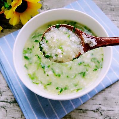 鸡肉青菜小米粥~宝宝早餐