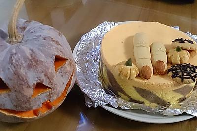 南瓜慕斯蛋糕