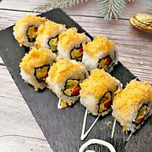 #换着花样吃早餐#好好吃的肉松寿司,一口一个,妙不可言