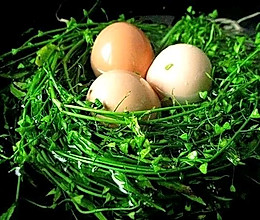 #餐桌上的春日限定#三月三•地米菜煮鸡蛋的做法